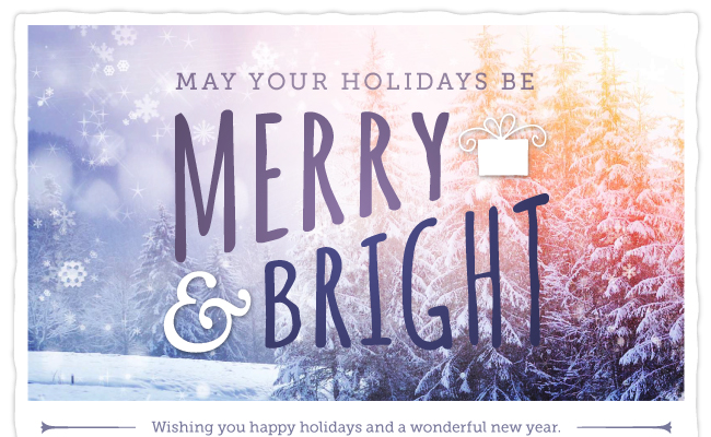 May your holidays be merry and bright.