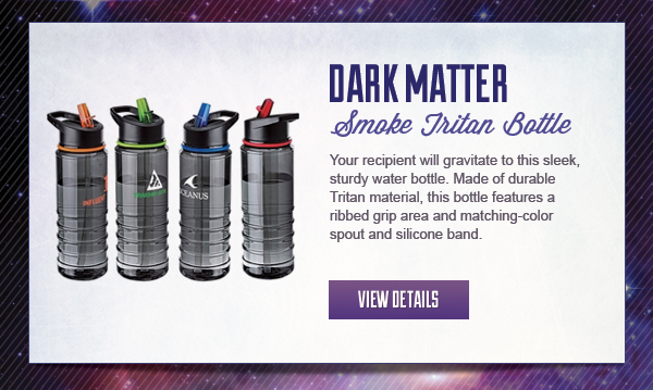 Dark Matter - Smoke colored Tritan Bottle with contemporary look