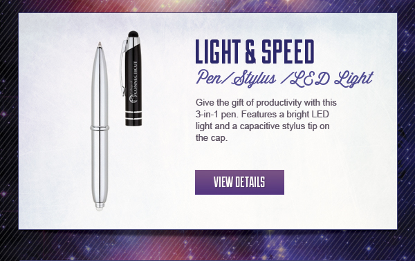 Pen + Stylus + Bright LED light = great promo item