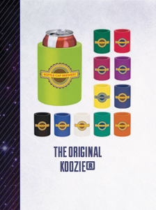 The Original Can Koozie in eye-popping colors and full color deco