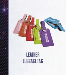 Leather Luggage tags in eye-popping colors